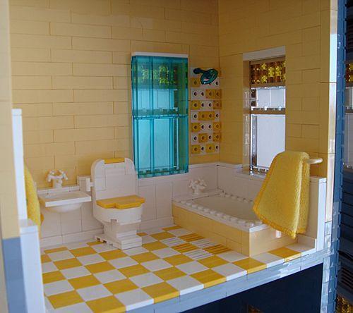 construccion victoriana con lego: baño