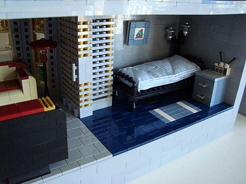 construccion victoriana con lego: dormitorio