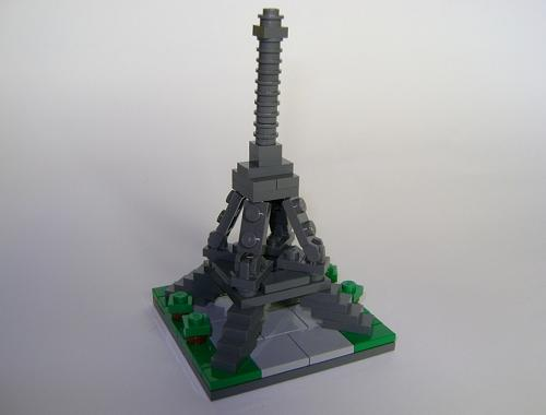 Micro edificios con LEGO: Torre Eiffel