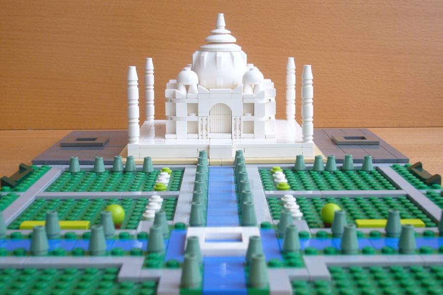 Micro edificios con LEGO: Taj Mahal micro, por T-brick