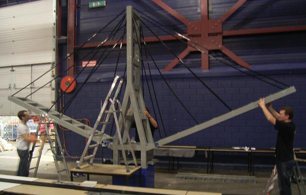 Puentes gigantes con LEGO: estructura central