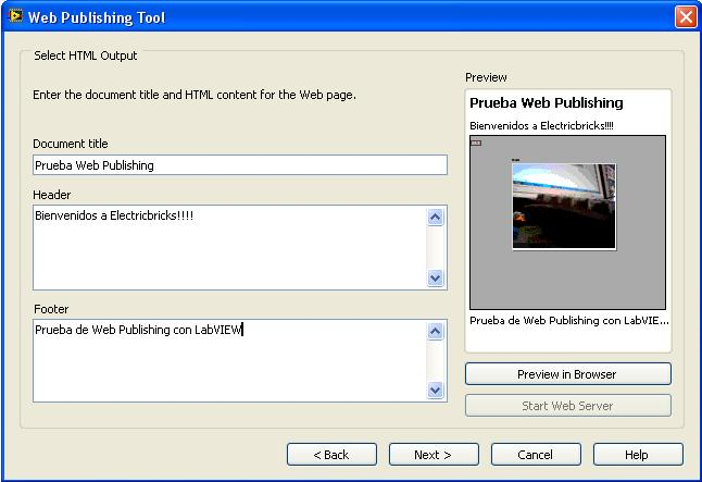 Web Publishing LabVIEW - 3