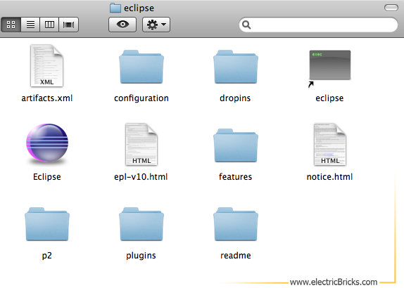 Eclipse para LeJOS en Mac: Eclipse Folder
