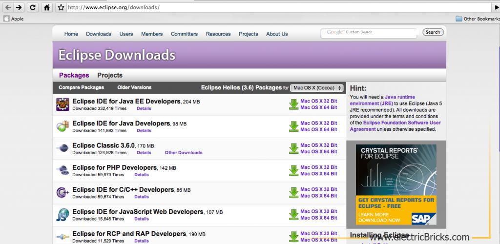 Eclipse para LeJOS en Mac: Eclipse