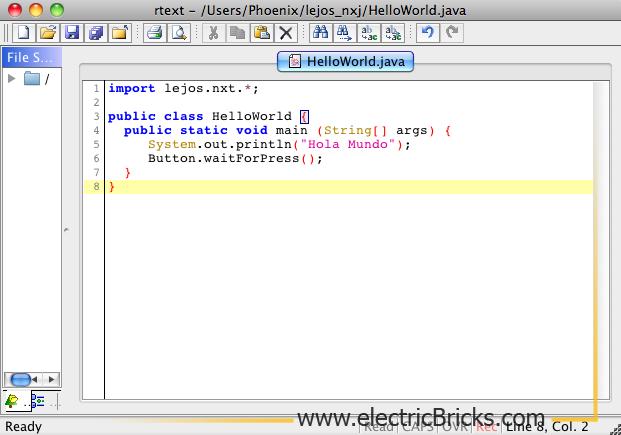 Instalar LeJOS en MAC OS X: HelloWorld
