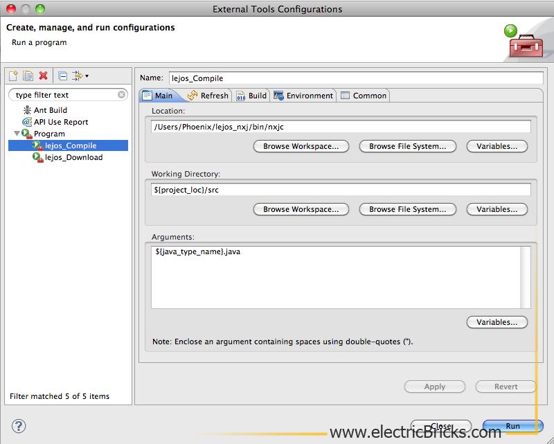 Eclipse para LeJOS en Mac: LeJOS_Compile