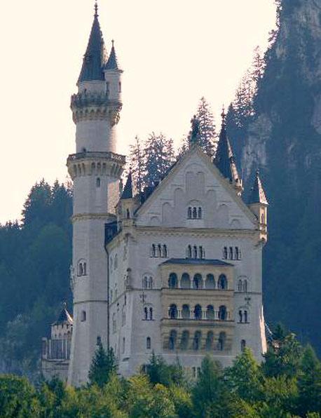 Castillo de Neuschwanstein, vista posterior