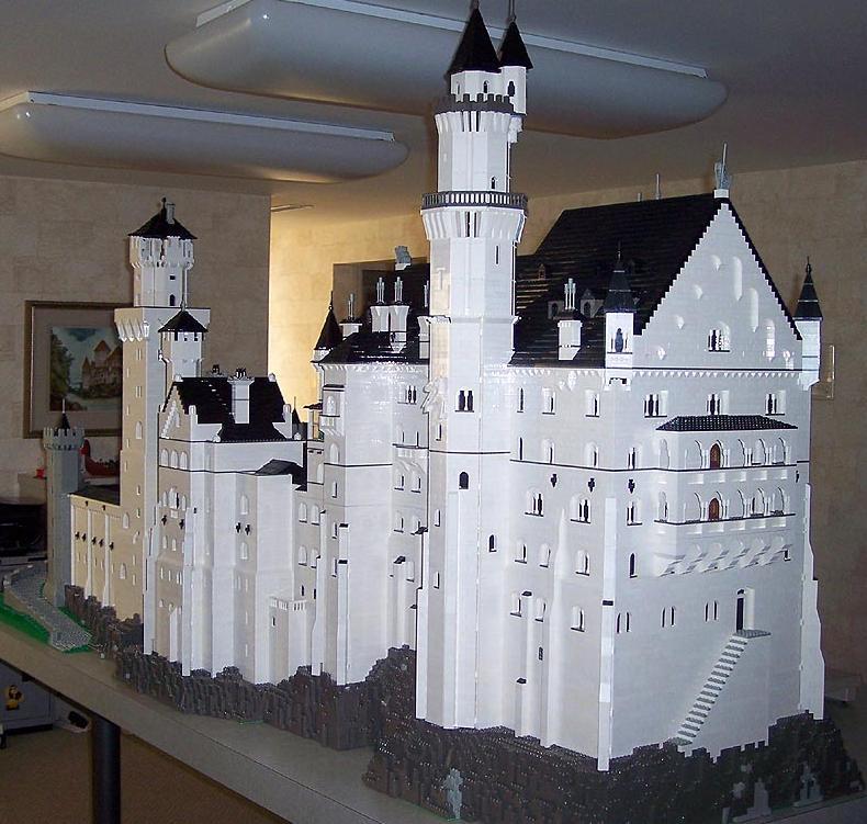 Castillo de Neuschwanstein, parte posterior, por Bob Carney
