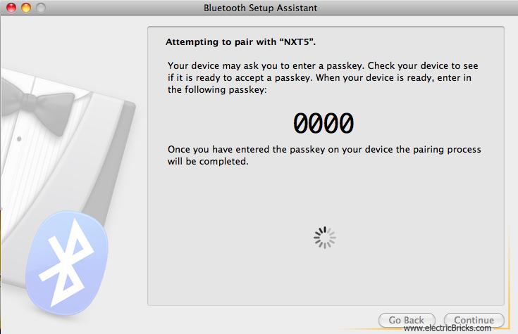 Conectar NXT por Bluetooth a MAC: passkey