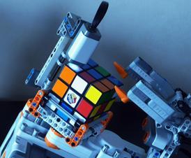 Tilted twister: Lectura de las caras del cubo de Rubik con el sensor de color del NXT