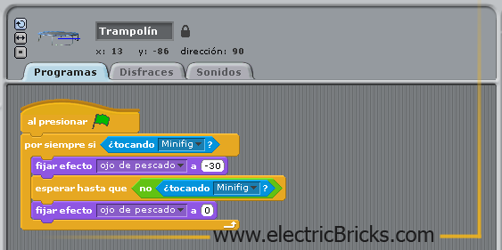 Scratch-WeDo Tutorial 2: trampolin programa