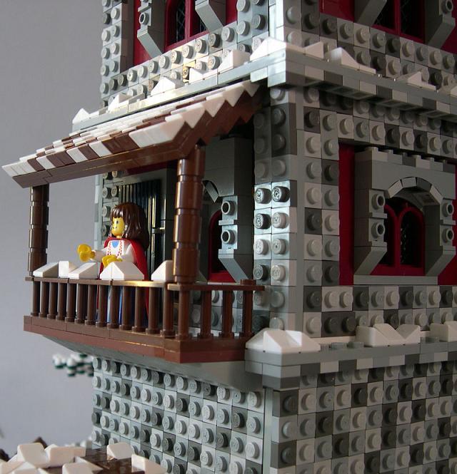 Winterfell, detalle de la torre, por tbaixniho