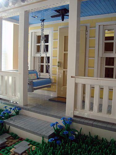Katrina Cottage en LEGO - porche