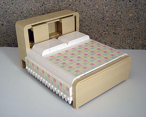Katrina Cottage en LEGO - cama