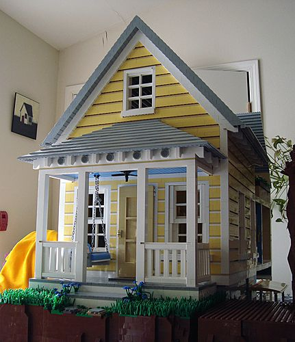 Katrina Cottage en LEGO - frontal