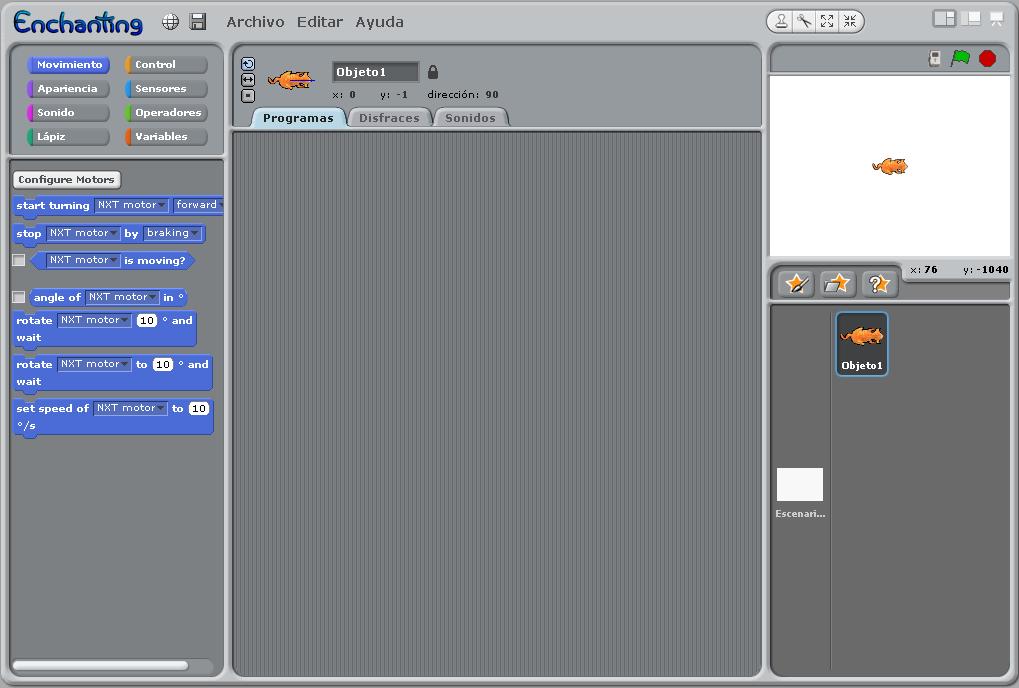 Programando el NXT con Scratch
