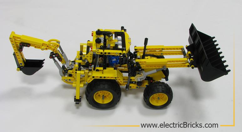 LEGO Technic 8069. Vista lateral, por electricBricks