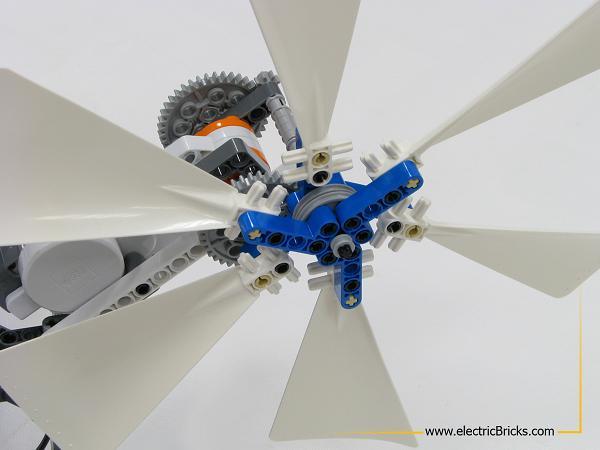 NXT AirScooter. Vista delantera de la hélice