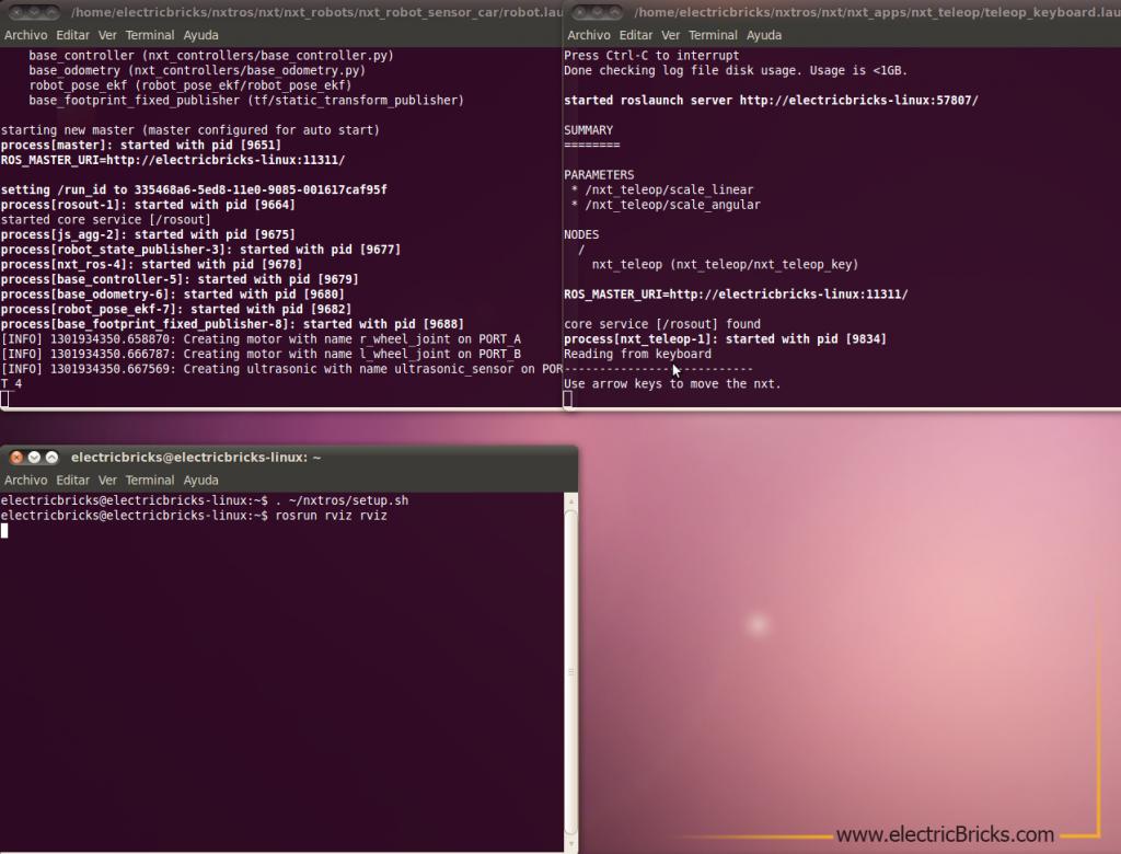 ROS Robot Operating System NXT 2: Pantallazo-RVIZ