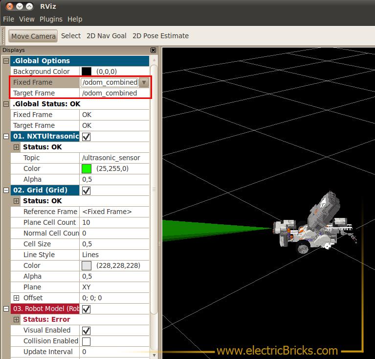 ROS Robot Operating System NXT 2: Rviz-Odometría_