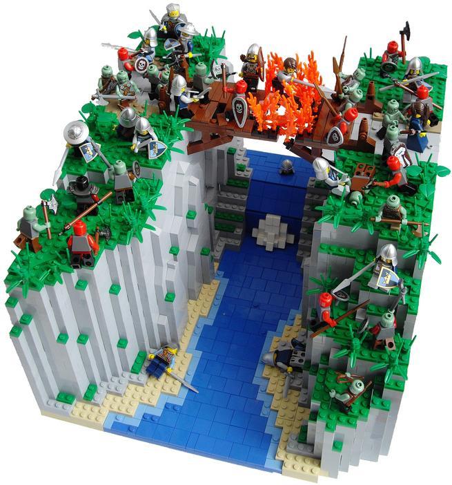 La batalla del puente en llamas, por Kǻrrde