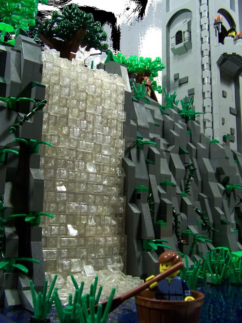 Detalle de la cascada, realizado por Garbageman13