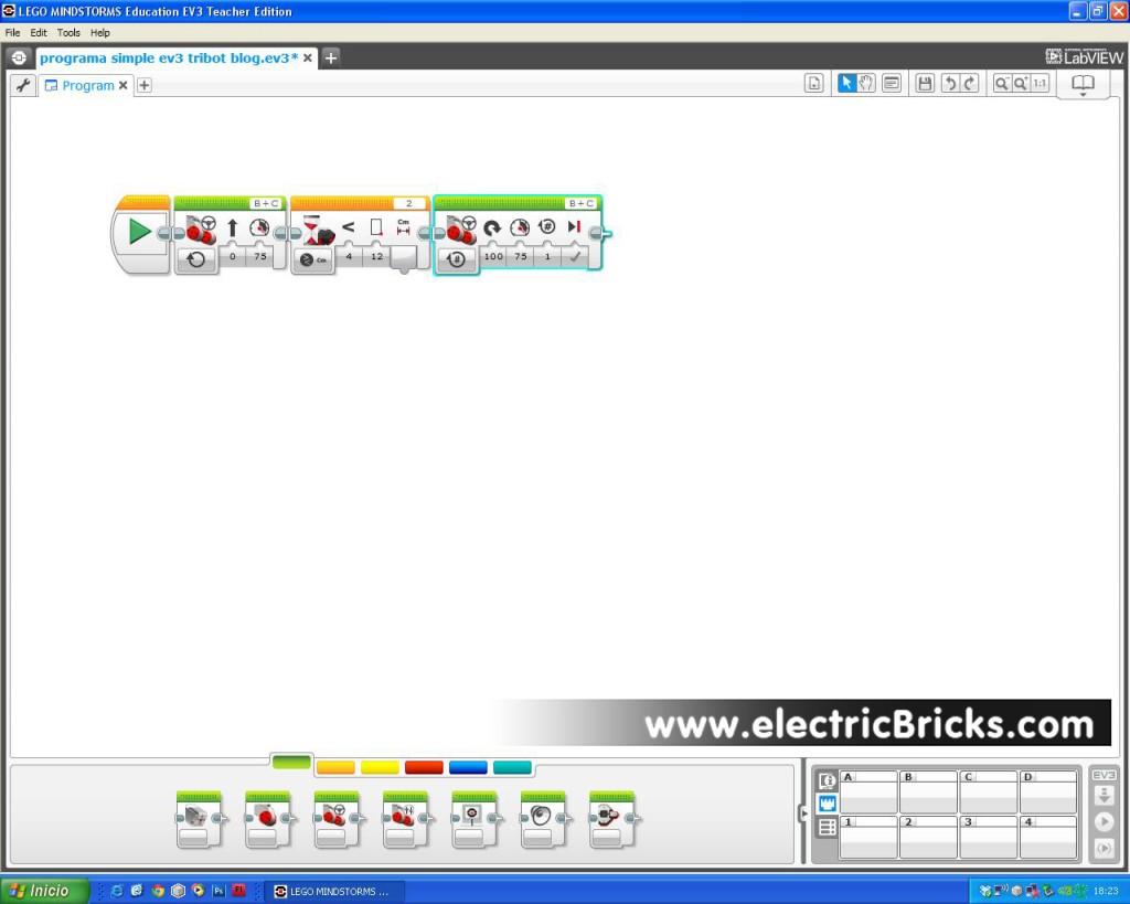programacion EV3 electricbricks