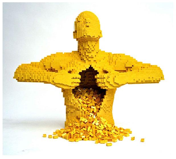 Nathan Sawaya escultura Lego