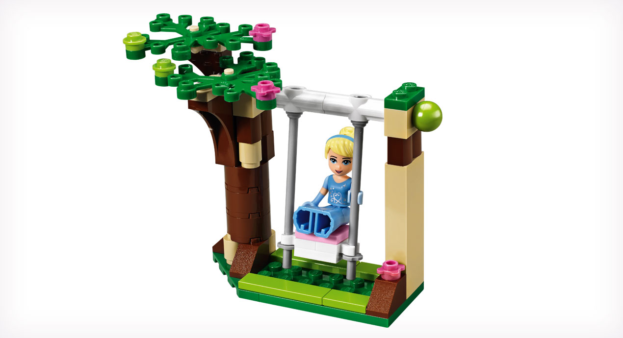 LEGO-DISNEY-PRINCESS-41055-El-Romantico-Castillo-de-Cenicienta-columpio-electricBricks