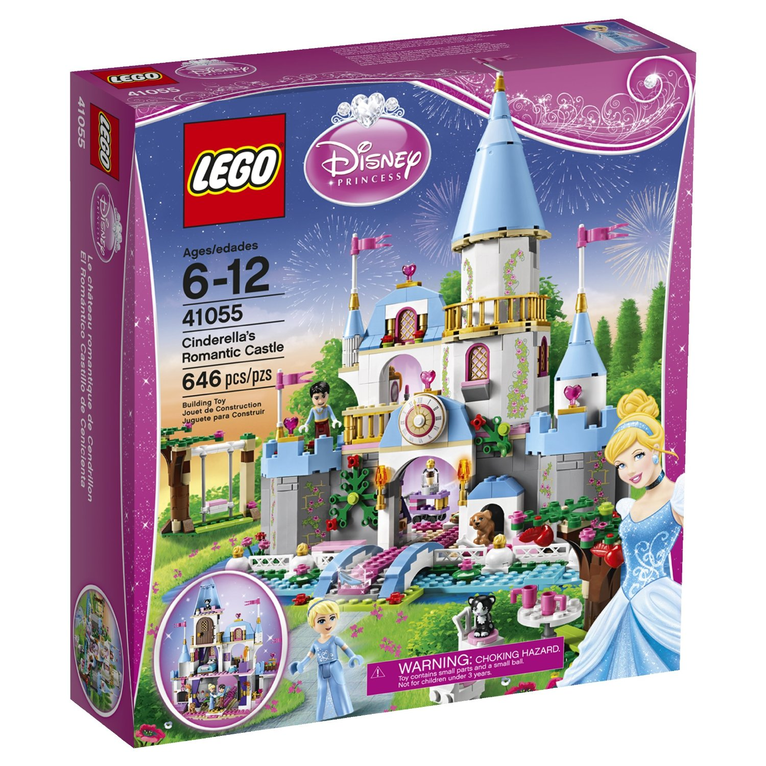 LEGO-DISNEY-PRINCESS-41055-El-Romantico-Castillo-de-Cenicienta-electricBricks